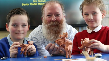 Jim Parkyn of Aardman visits Llanharan Primary School (6)