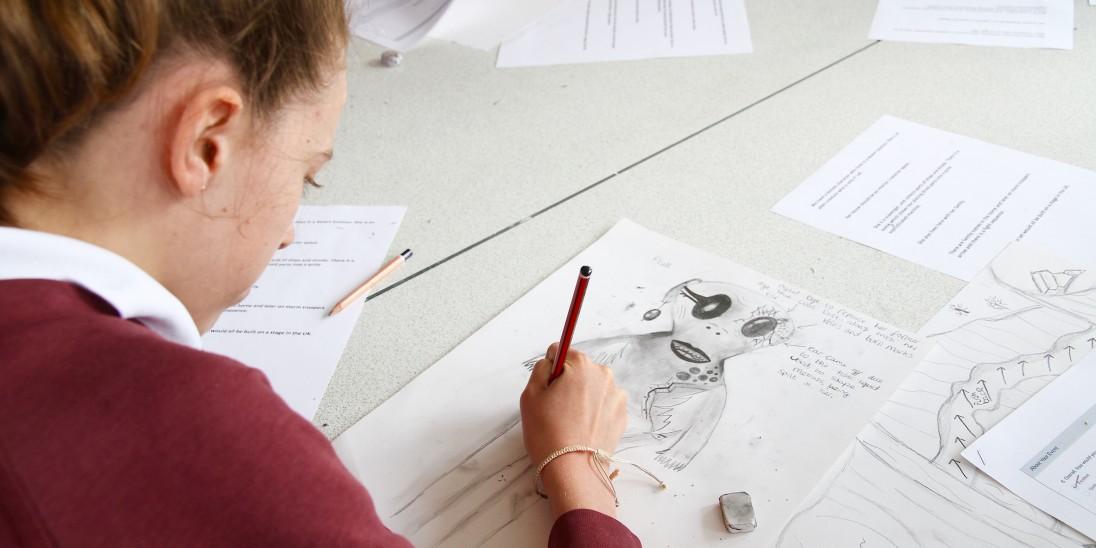 Pupil drawing.