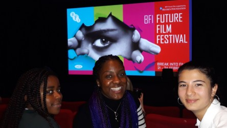 Reporters Aarony, Imoleayo and Eden at the Future Film Festival