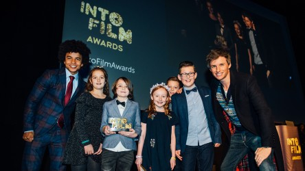 Into Film Awards 2019 - Radzi and Eddie Redmayne with Hornsea Community