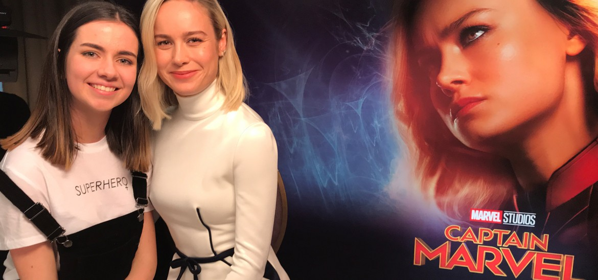 Brie Larson talks 'Captain Marvel' with Into Film reporter Alexa