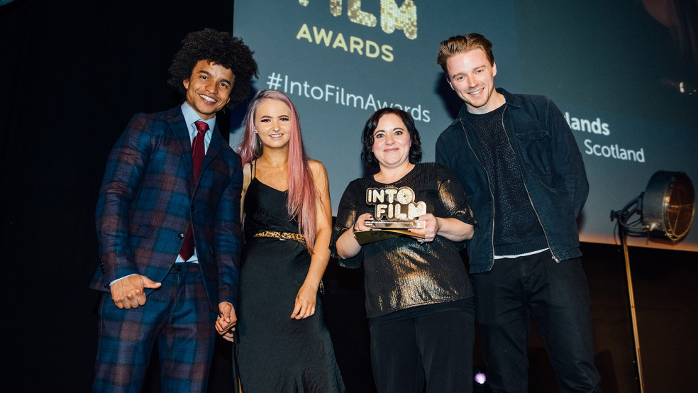 Into Film Club of the Year: Secondary winners with Radzi and Jack Lowden