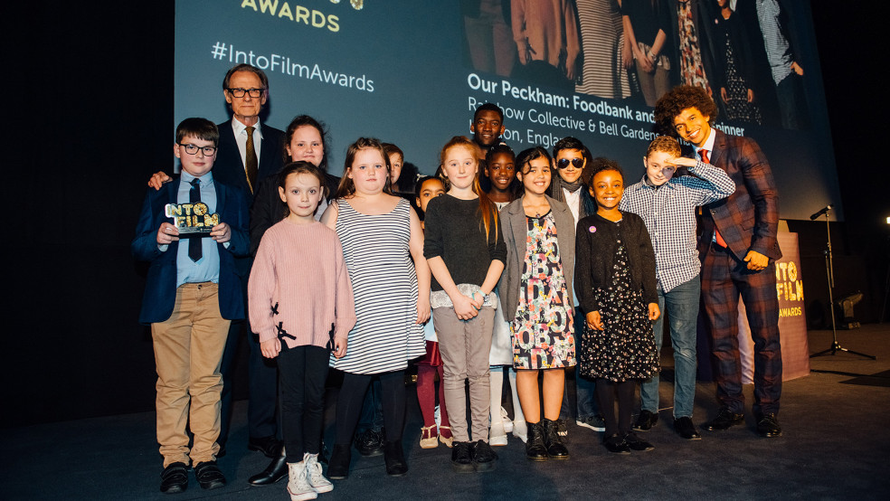 Best Animation winners with Radzi and actors Bill Nighy and Malachi Kirby