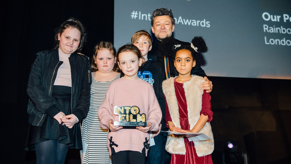Audience Choice Award winners on stage with actor/director Andy Serkis