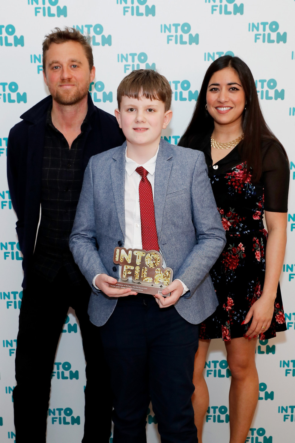 Frankie with director Michael Pearce and critic Rhianna Dhillon