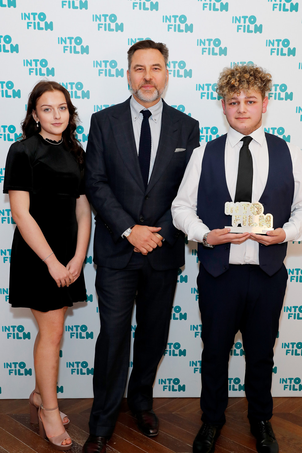 Best Film: 12-15 winners with David Walliams