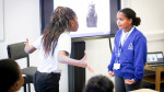 Pupils role-playing at Bluebell Hill Primary School, Nottingham