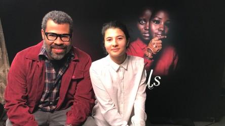 'Us' writer and director Jordan Peele and reporter Eden