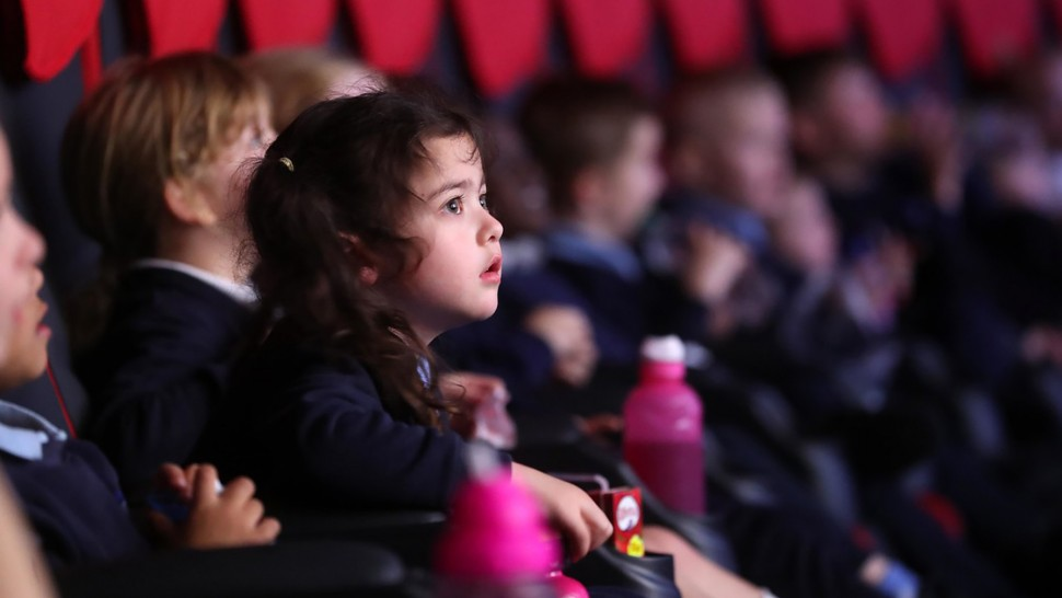 Young cinema-goers at Into Film Festival 2018