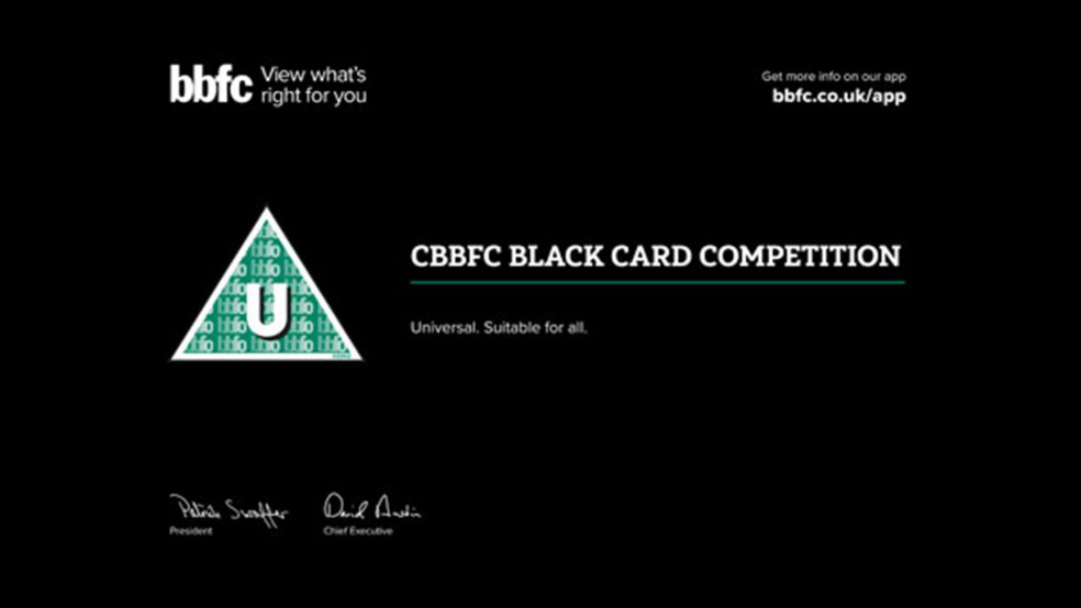 BBFC Black Card Competition header image