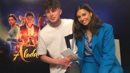 'Princess Jasmine' Naomi Scott and reporter Ewan discuss Aladdin