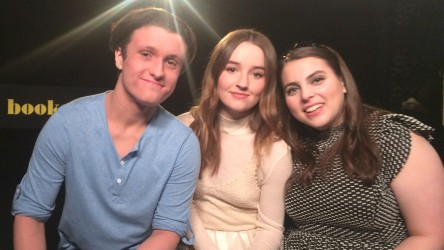 Reporter Cai with Booksmart co-stars Kaitlyn Dever and Beanie Feldstein
