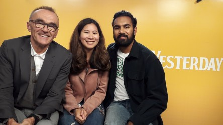 Danny Boyle and Himesh Patel talk 'Yesterday' with reporter Emilie