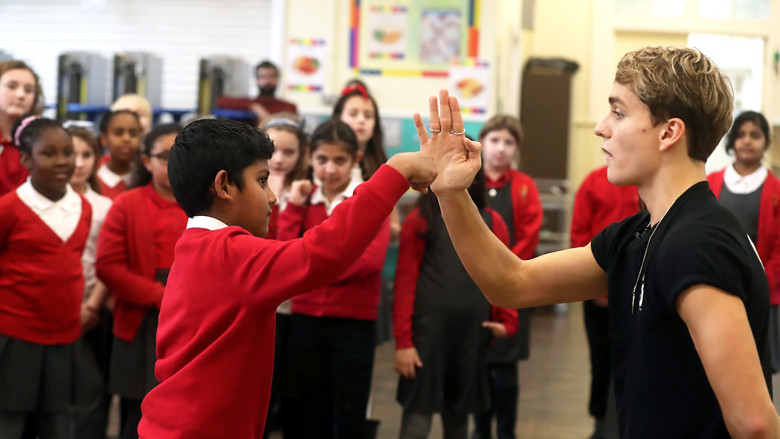 Tyler Kennington stunt workshop, St. Monica's Primary School, Cardiff