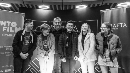 Rhys Ifans with YAC members