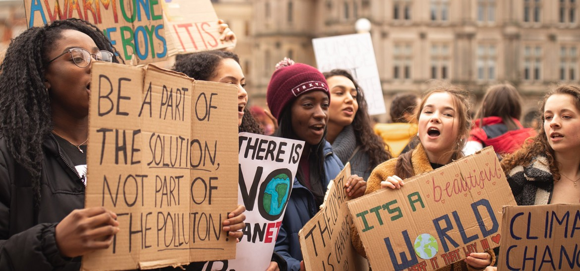 Young People Protesting