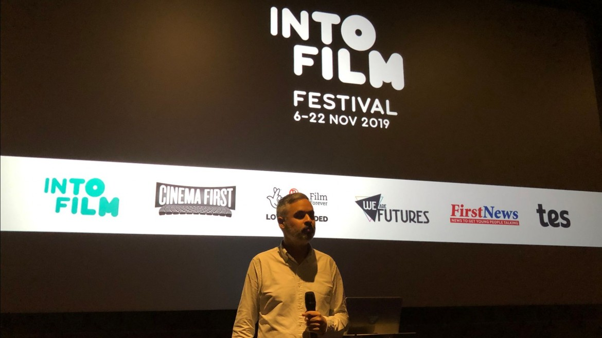 Talking at Vue Piccadilly as part of the 2019 Into Film Festival