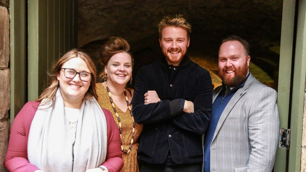 Jack Lowden at Stirling Castle
