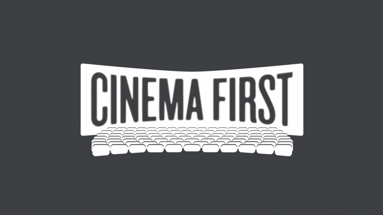 Cinema First logo on black background