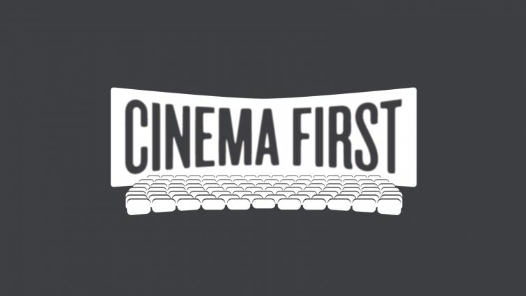 Cinema First logo on black background