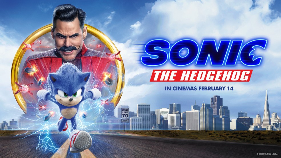 Sonic the Hedgehog background image landing page