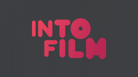 Into Film logo pink on black