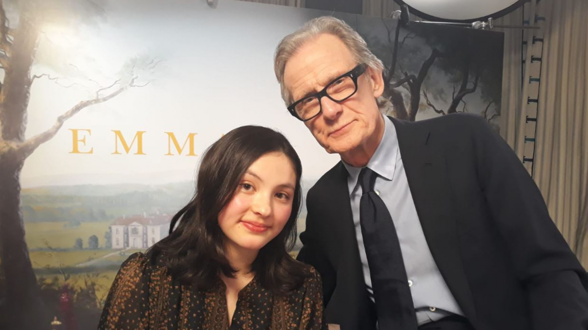 Reporter Mie with actor Bill Nighy