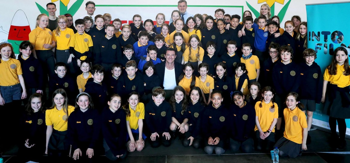 Visit to schools in Cardiff
