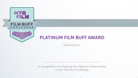 Film Buff Challenge - Platinum Certificate