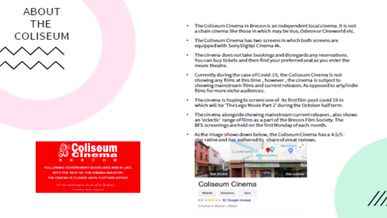 Youth Advisory Council Member Eden (15) - Coliseum cinema in Brecon, Wales
