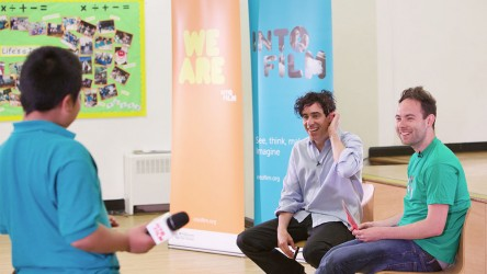 Stephen Mangan in school visit