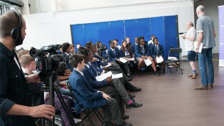Dunraven film club in school visit