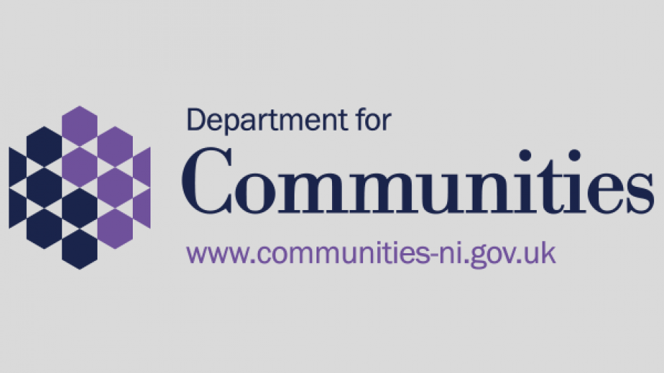 Department for Communities logo (grey background)