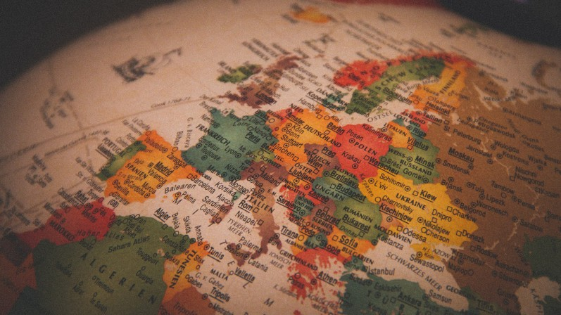 Map of Europe (Globe)