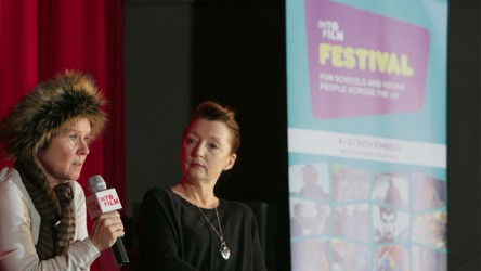 Lesley Manville and Imelda Staunton at the Into Film Festival