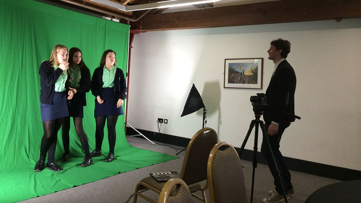 Workshop in green screen for Opening Minds Transforming Lives