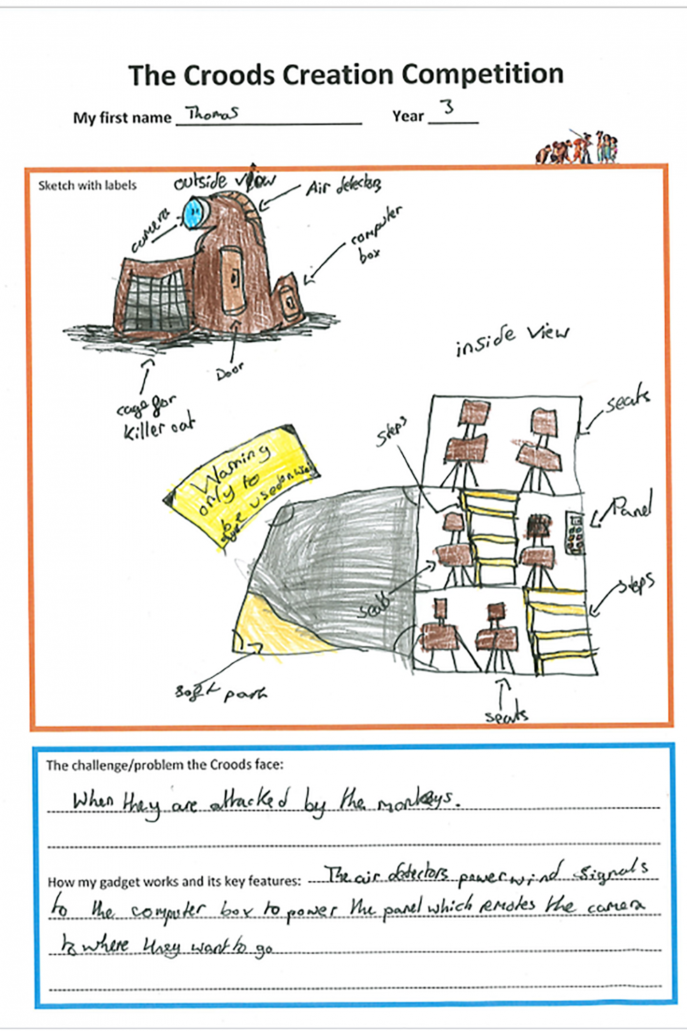 Croods Creations Competition Winner - Thomas
