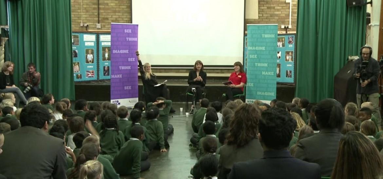 Carey Mulligan visits Greenside Primary School