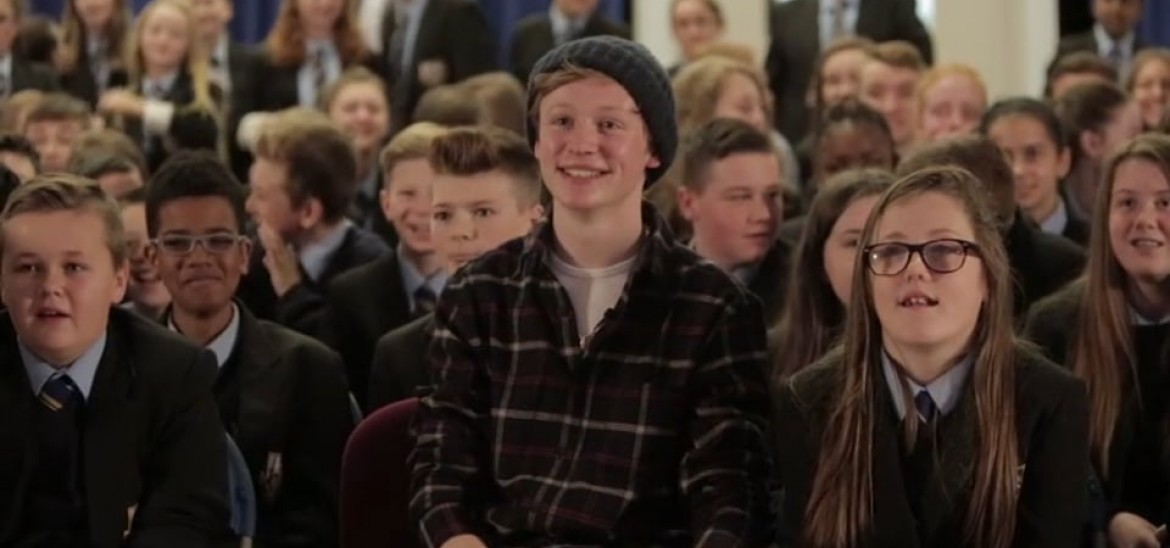 Actor John Bell interviewed by students