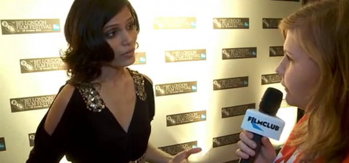 Red carpet interviews with the cast and director of Miral