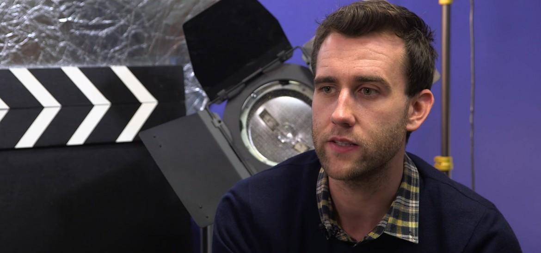 Actor Matthew Lewis visits students in Leeds