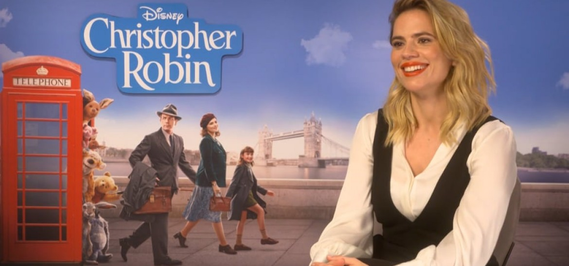 Hayley Atwell reflects on childhood in 'Christopher Robin' interview